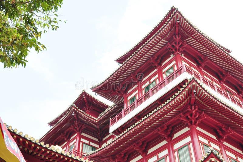 Templo chinês vermelho imagens de stock