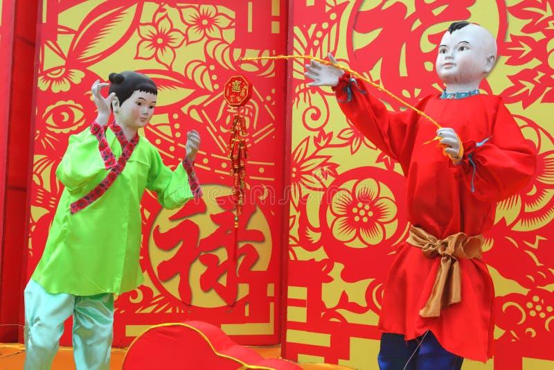 Templo chino del Año Nuevo justo en Panjin fotografía de archivo