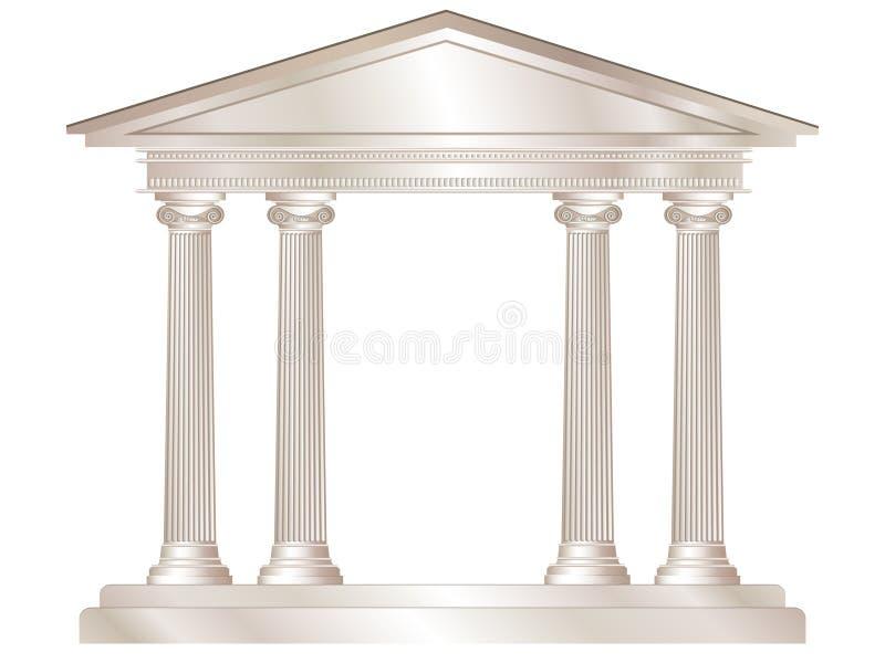 Templo clásico ilustración del vector