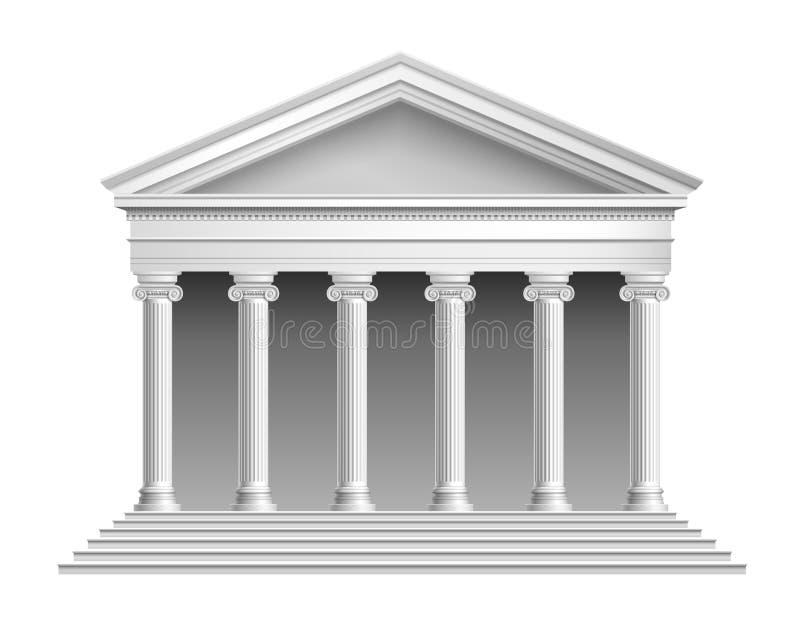 Templo con la columnata ilustración del vector