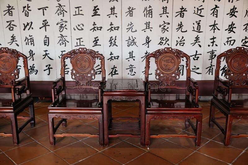 Templo confucionista de Taiwan em Tainan, Taiwan foto de stock royalty free