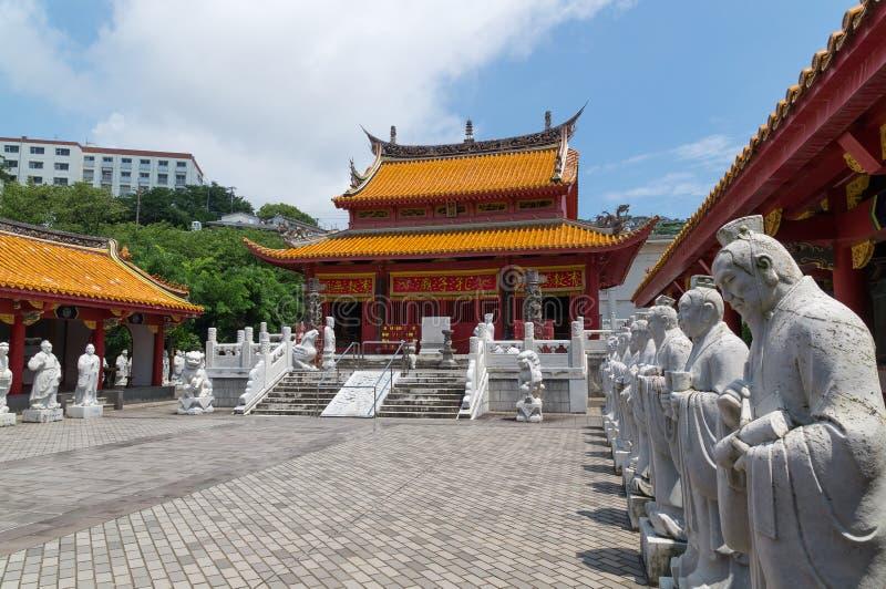 Templo confucionista em Nagasaki, Japão fotografia de stock