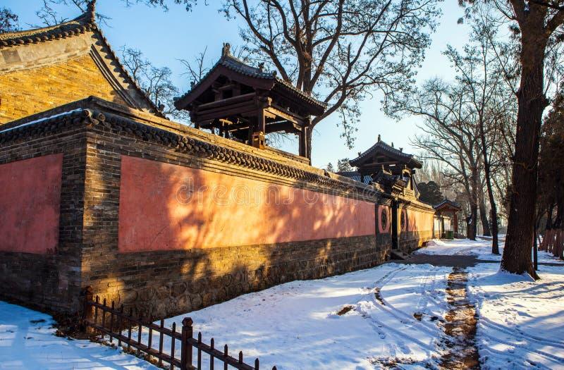 Templo conmemorativo de la escena-Laojun del templo de Jinci (museo) fotografía de archivo
