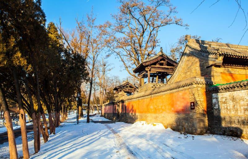 Templo conmemorativo de la escena-Laojun del templo de Jinci (museo) imagen de archivo libre de regalías