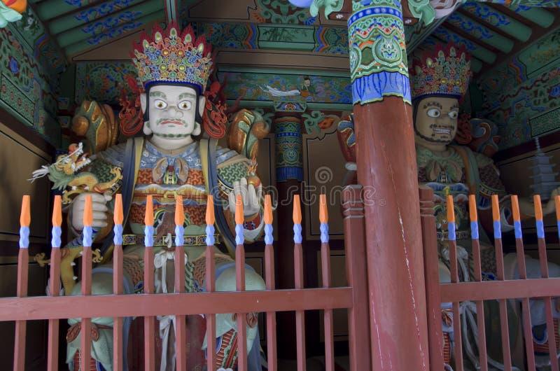 Templo coreano Buda del budismo fotografía de archivo libre de regalías