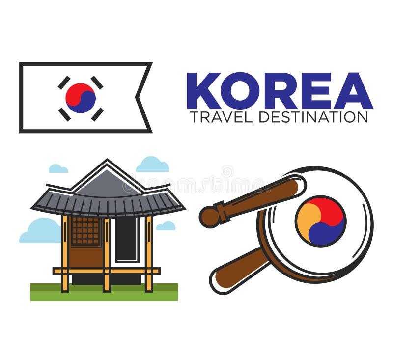 Templo coreano tradicional ilustração royalty free