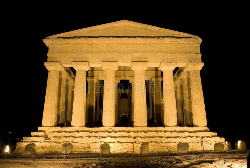 Templo dórico de Concordia en Agrigento foto de archivo