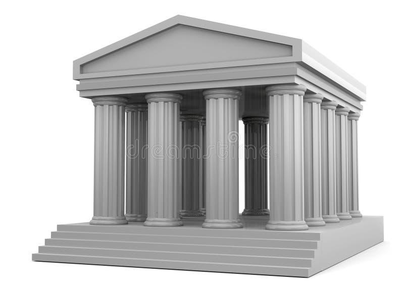 Templo - 3D ilustração royalty free