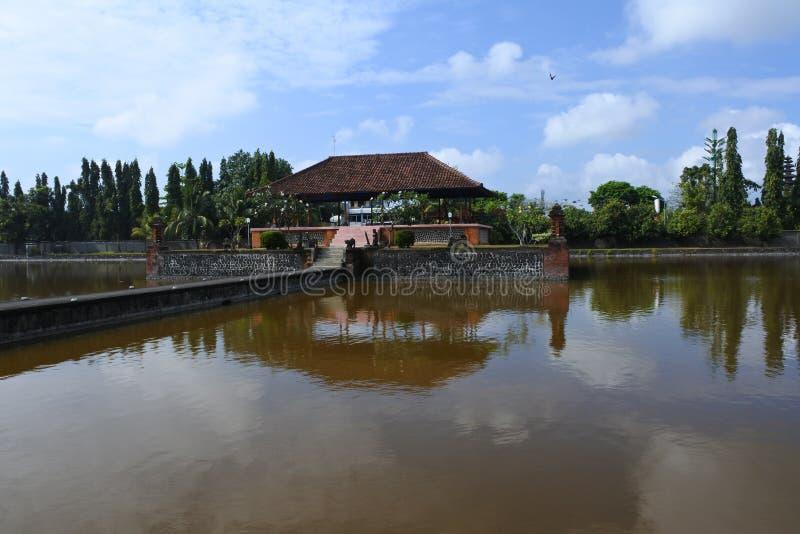 Templo da água de Mayura, Mataram fotos de stock