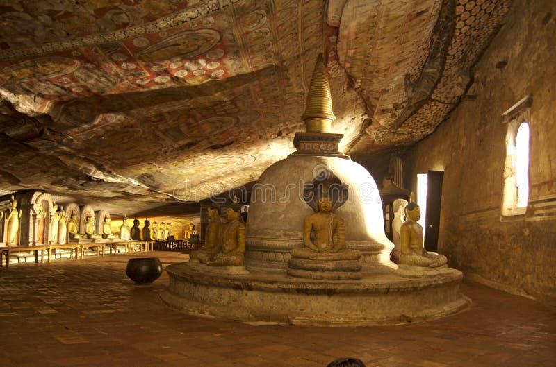 Templo da caverna de Dambulla - Sri Lanka imagem de stock
