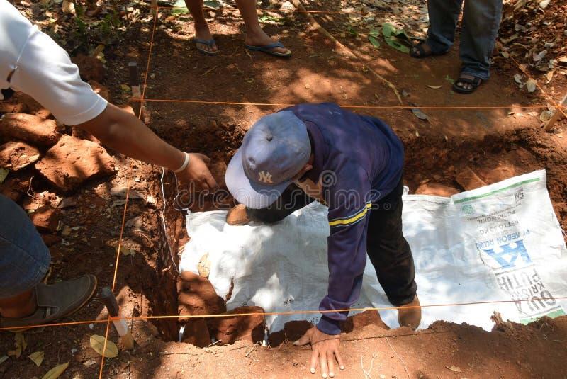 TEMPLO da escavação da CONSTRUÇÃO imagens de stock