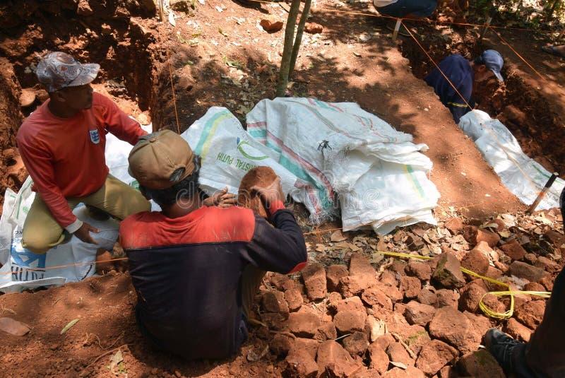TEMPLO da escavação da CONSTRUÇÃO foto de stock royalty free