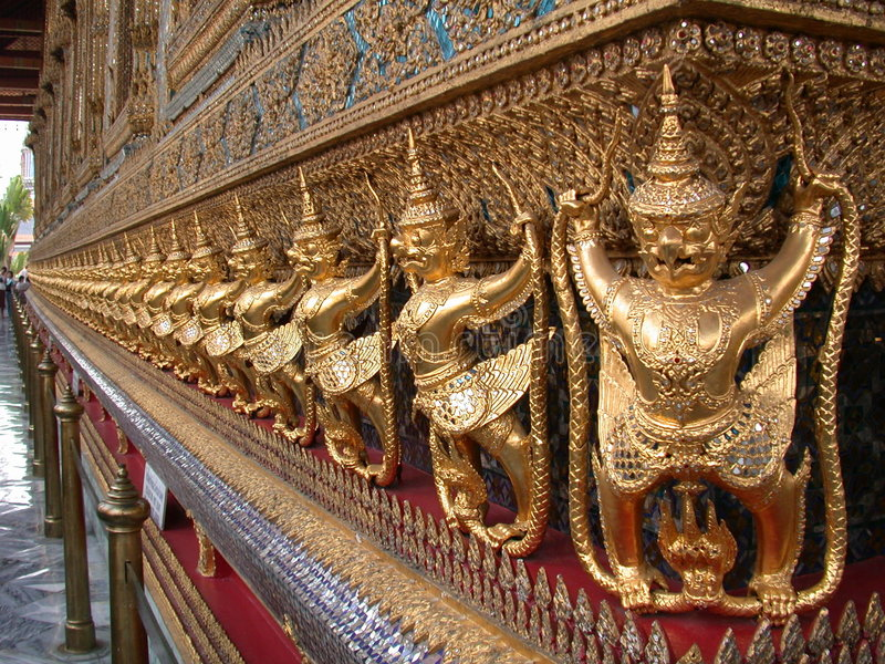 Templo da esmeralda Buddha 2 foto de stock
