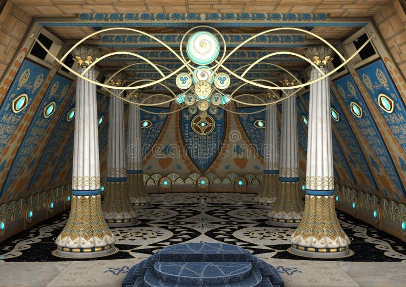 templo da fantasia da rendição 3D ilustração royalty free