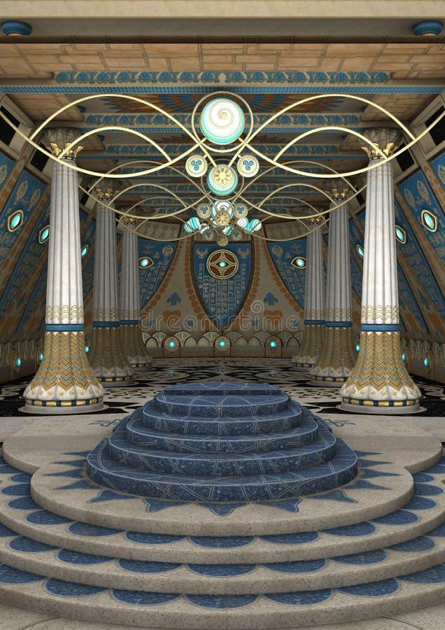 templo da fantasia da rendição 3D ilustração stock