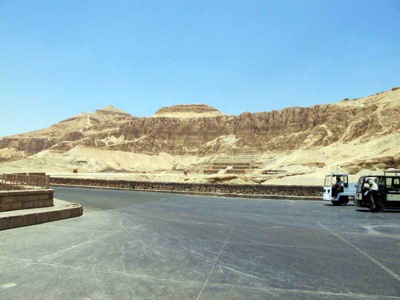 Templo da rainha Hatshepsup Monumentos históricos da antiguidade imagem de stock royalty free