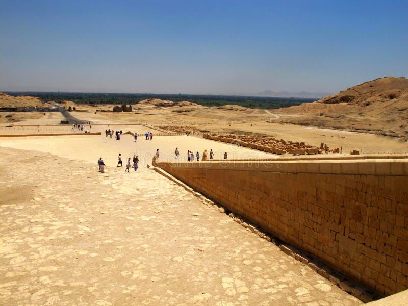 Templo da rainha Hatshepsup Monumentos históricos da antiguidade imagens de stock royalty free