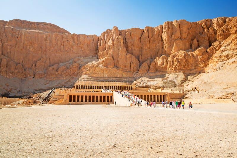 Templo da rainha Hatshepsut em Egito fotografia de stock