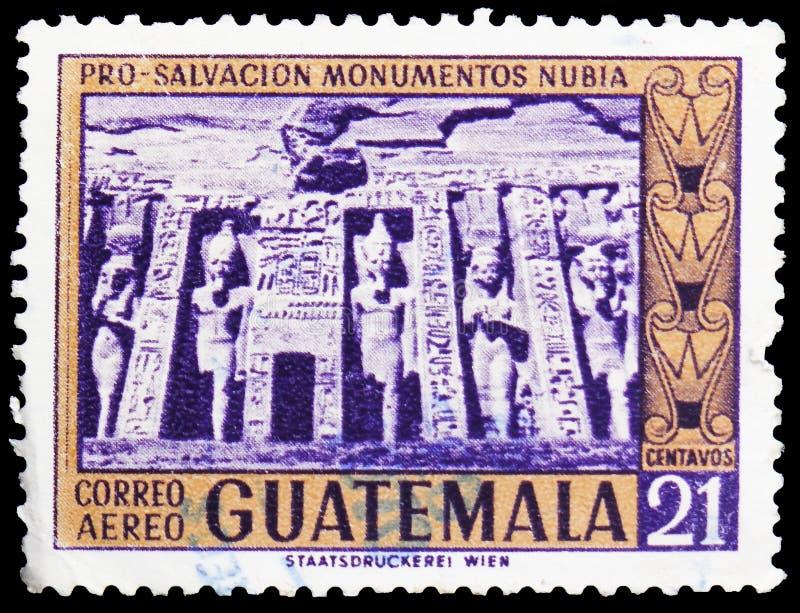 Templo da rainha Nefertari, Abu Simbel, serie, cerca de 1966 fotografia de stock
