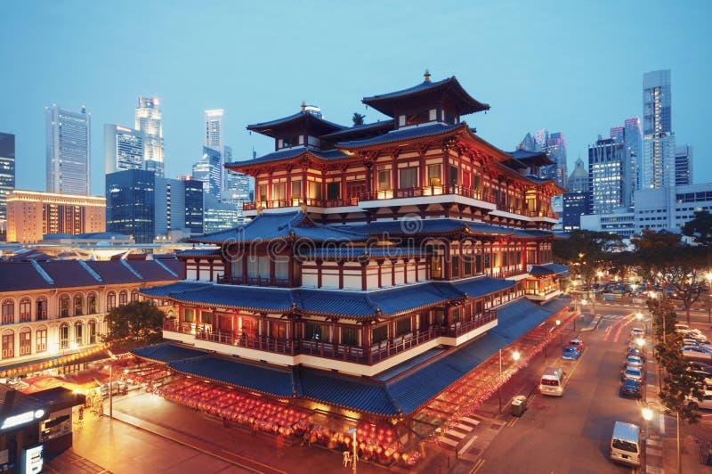 Templo da relíquia de Toothe da Buda, Singapura fotografia de stock royalty free