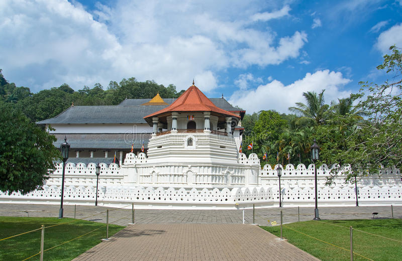 Templo da relíquia sagrado do dente, Kandy Sri Lanka foto de stock