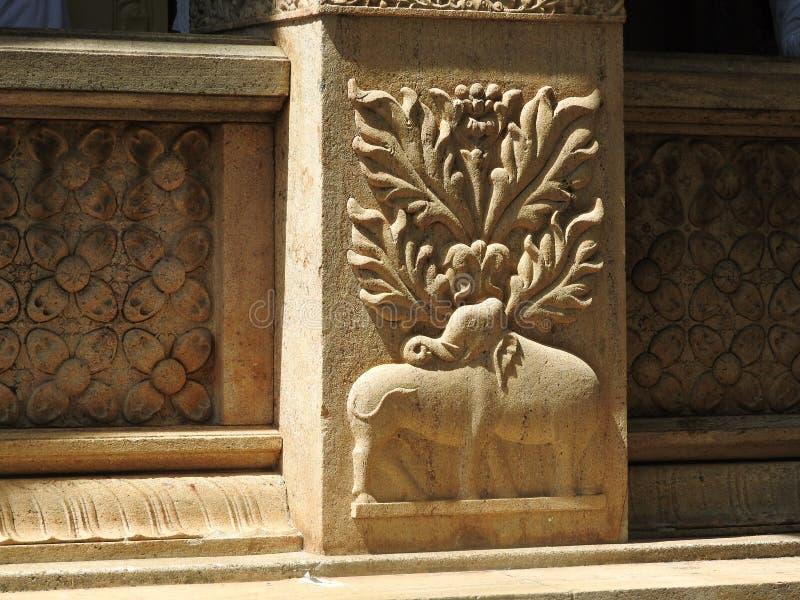 Templo da relíquia sagrado Sri Dalada Maligawa do dente em Kandy, Sri Lanka Templo budista das relíquias dos detalhes situado n imagens de stock