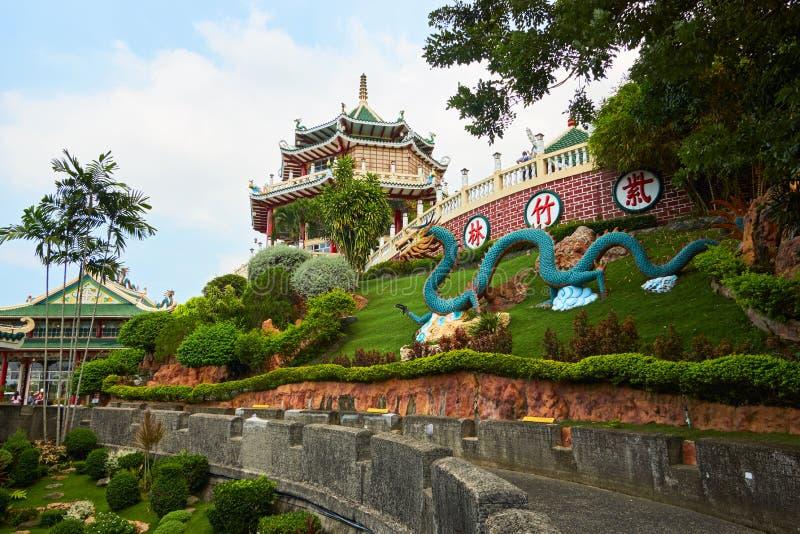Templo da taoista de Cebu na cidade de Cebu, Filipinas imagens de stock royalty free