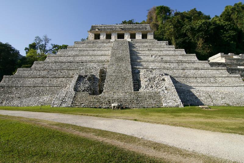 Templo das inscrição. Cidade maia antiga, México foto de stock