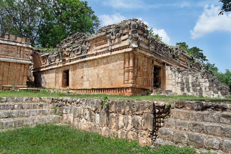Templo das serpentes em Labna fotos de stock