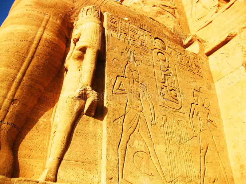 Templo de Abu Simbel imagens de stock