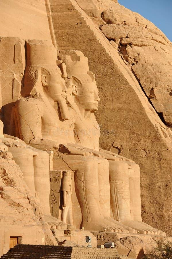 Templo de Abu Simbel imagen de archivo