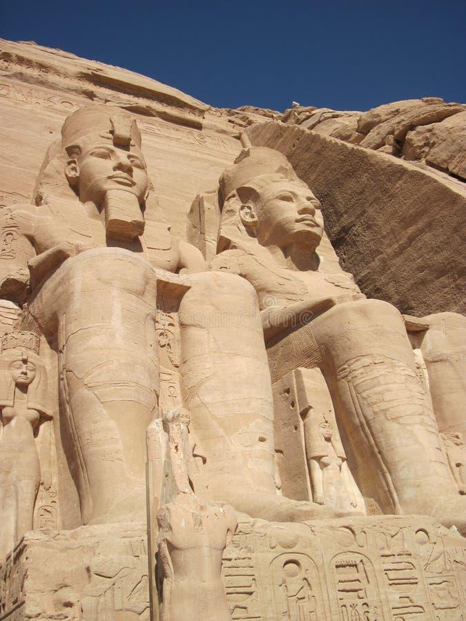 Templo de Abu Simbel em Egipto foto de stock royalty free