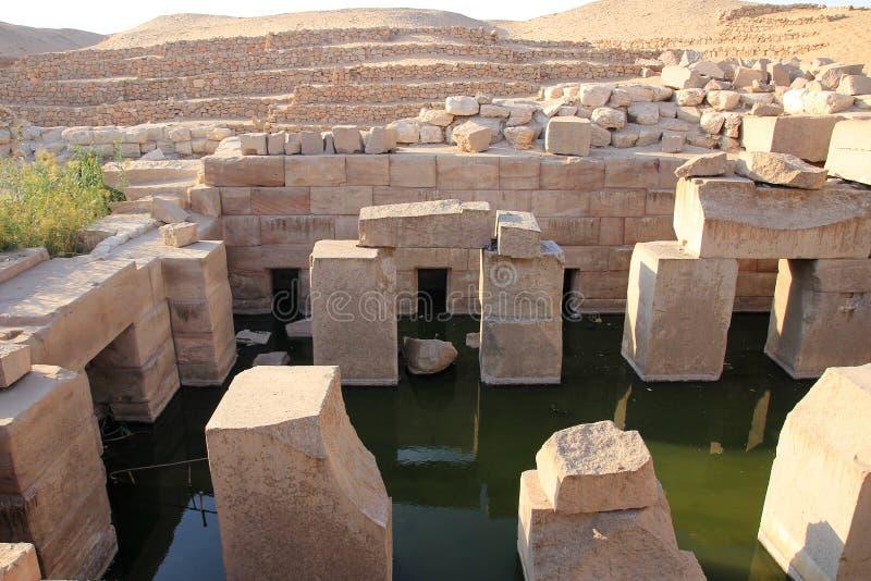 Templo de Abydos fotos de stock royalty free