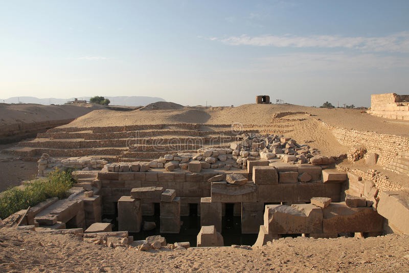 Templo de Abydos imagens de stock
