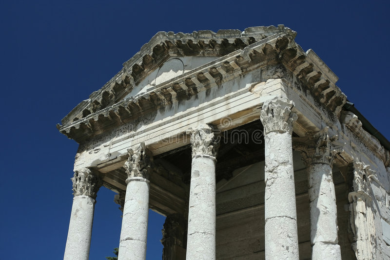 Templo de agosto imagem de stock royalty free