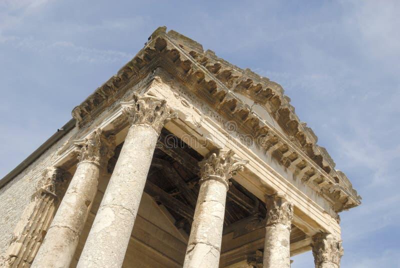 Templo de agosto nos Pula imagem de stock royalty free
