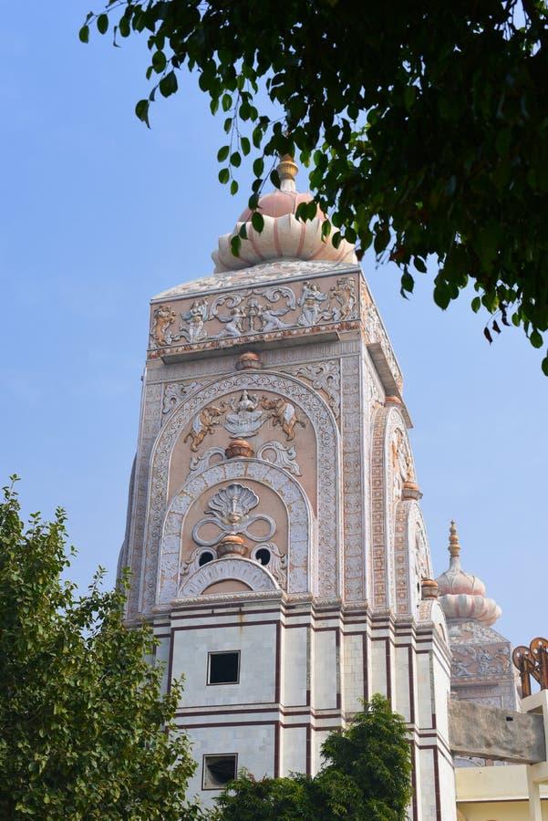 Templo de Agroha Dham, um templo hindu muito famoso em Agroha, Haryana, Índia fotografia de stock royalty free