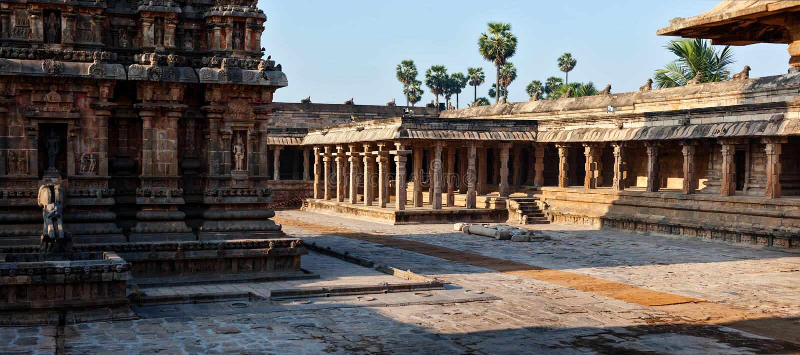 Templo de Airavatesvara, Darasuram imagem de stock royalty free