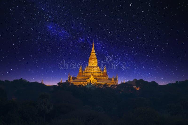 Templo de Ananda Liso de Bagan imagem de stock