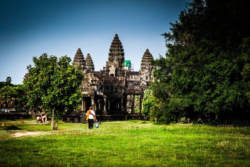 Download Templo de Angkor Wat foto de stock. Imagem de khmer, local - 26505904
