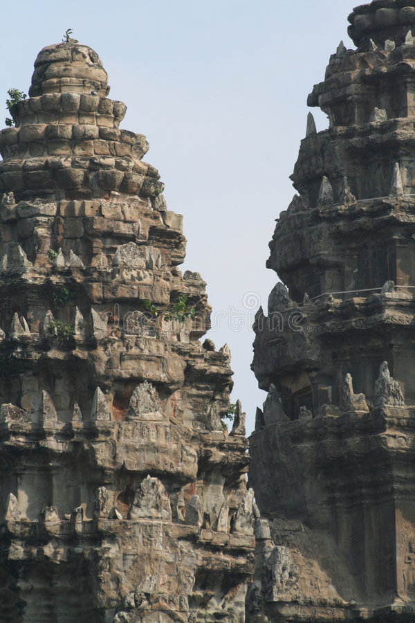 Templo de Angkor Wat cénico imagem de stock