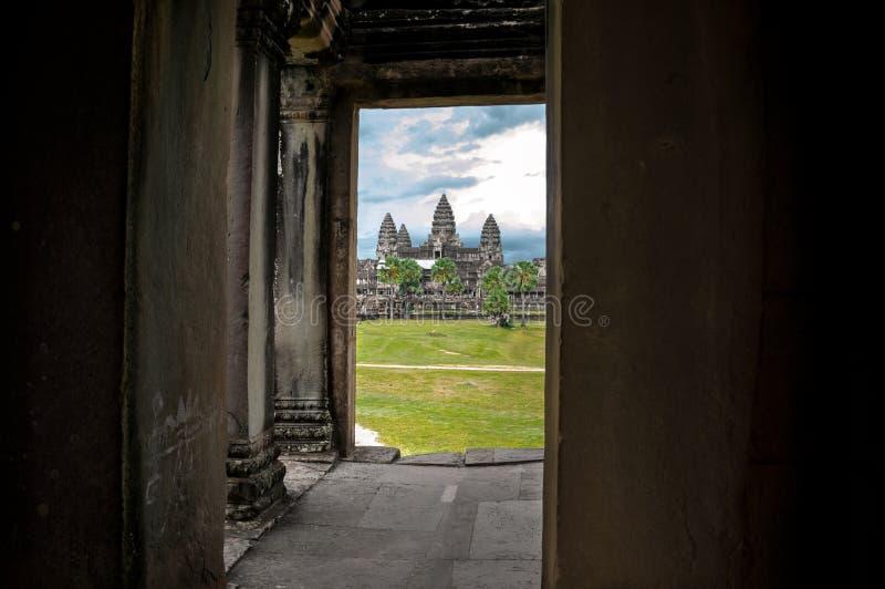 Templo de Angkor Wat, Camboja fotos de stock