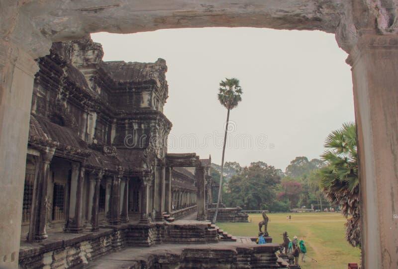 Templo de Angkor Wat en Siem Reap imagenes de archivo