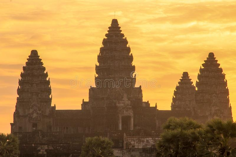 Templo de Angkor Wat en Siem Reap fotos de archivo