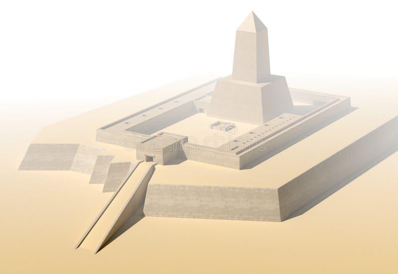 Templo de Anscient da ilustração de Abu Gorab Ruined Egypt 3d ilustração stock