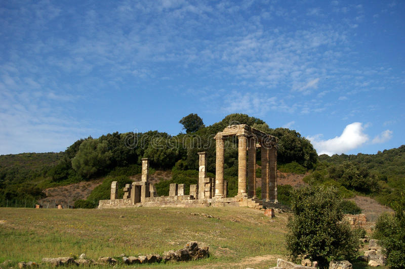 Templo de Antas, Sardinia de RRoman. foto de stock royalty free