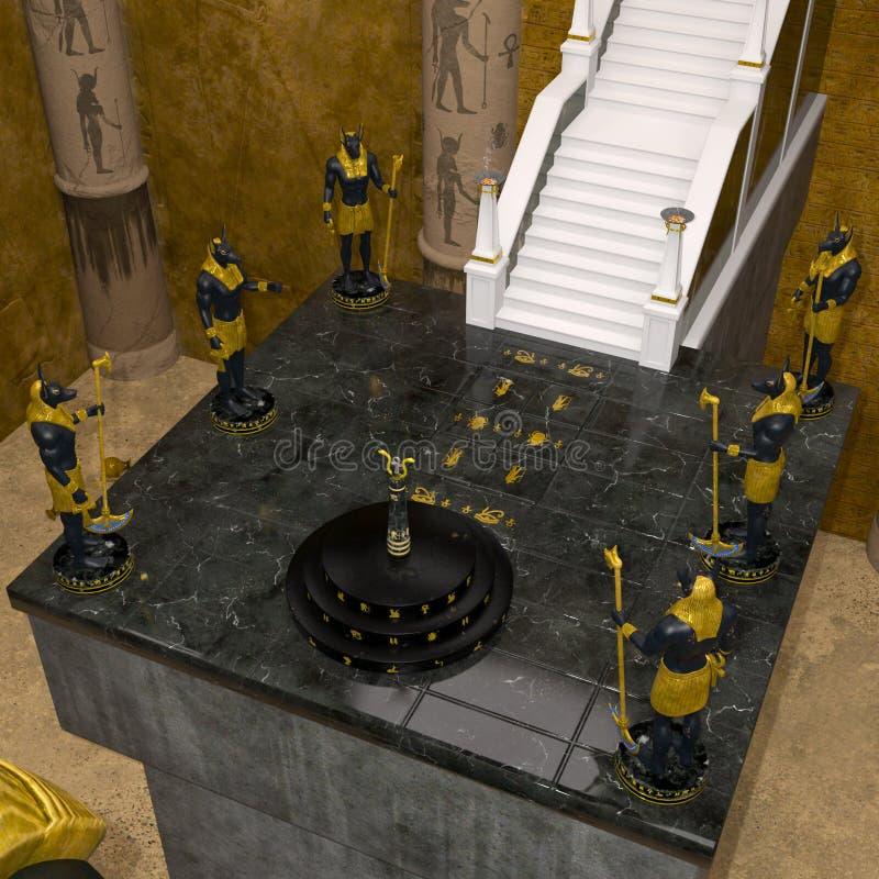 Templo de anubis en el Egipto viejo libre illustration