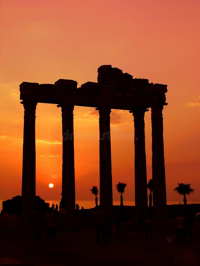 Templo de Apollo, lado, Turquia imagens de stock
