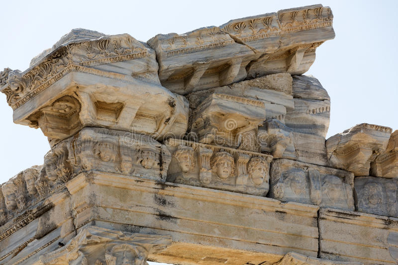 Templo 2 de Apollo Ruínas antigas no lado imagem de stock