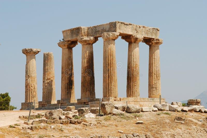 Templo de Apollon Corinthe imagens de stock royalty free
